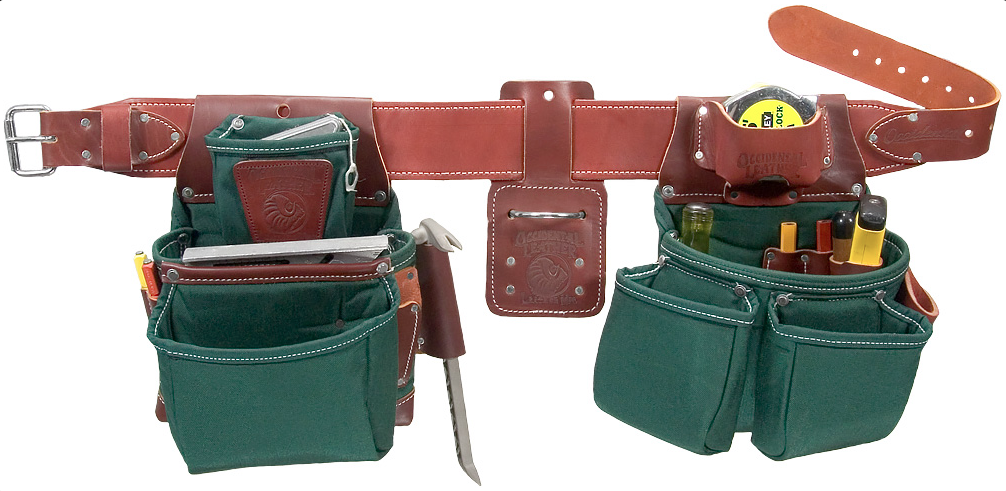 Occidental Leather Oxylights Framer Tool Belt Set Green