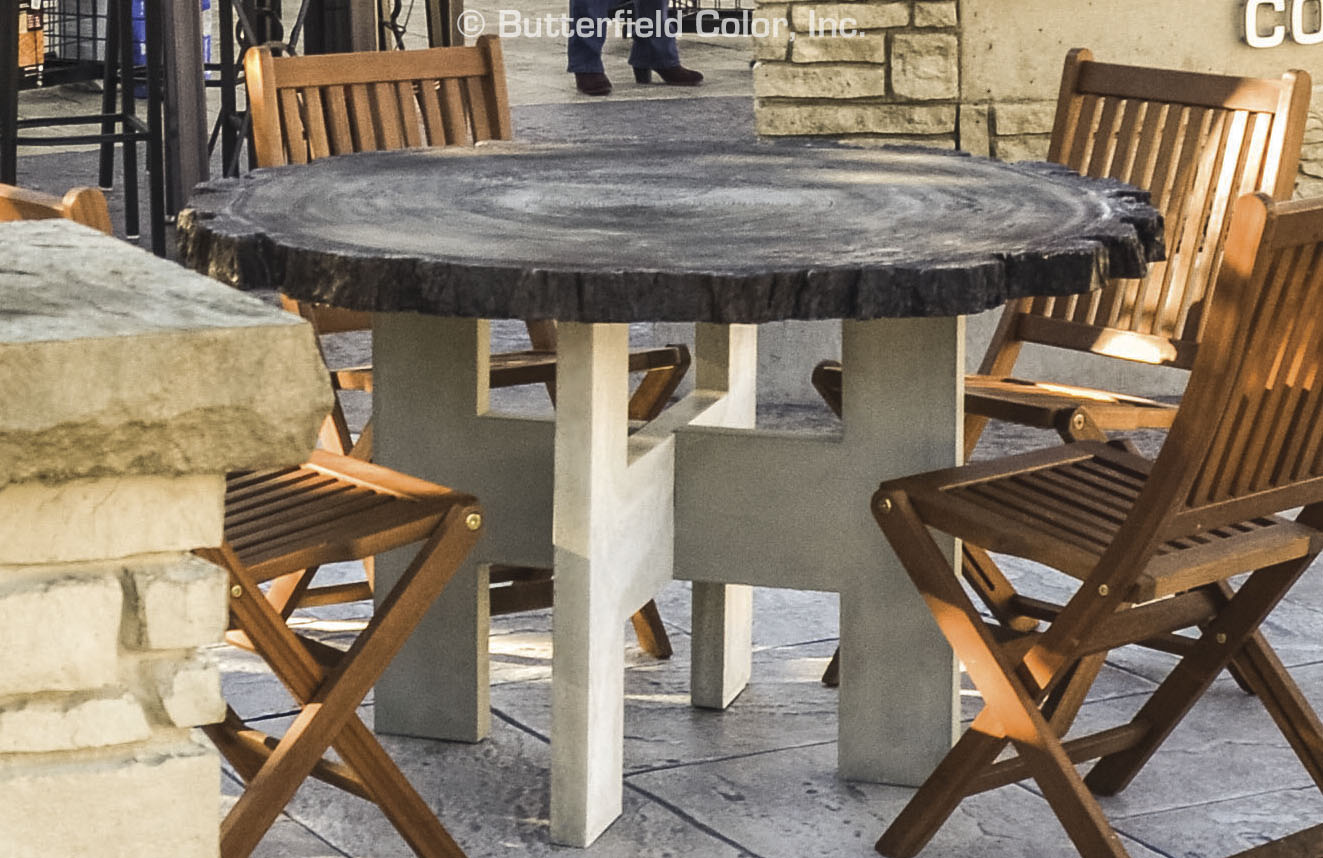 Butterfield Color Log Round Table Mold System Cascade Concrete - Round concrete table top mold