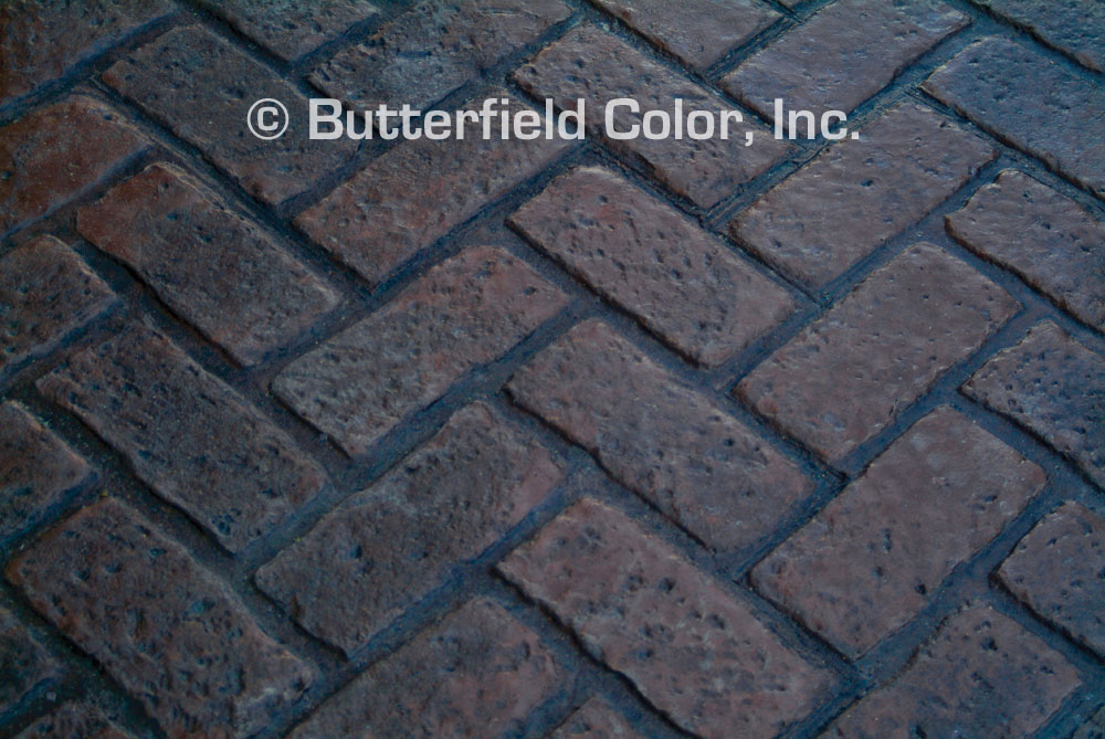 butterfield color old chicago herringbone brick stamp cascade