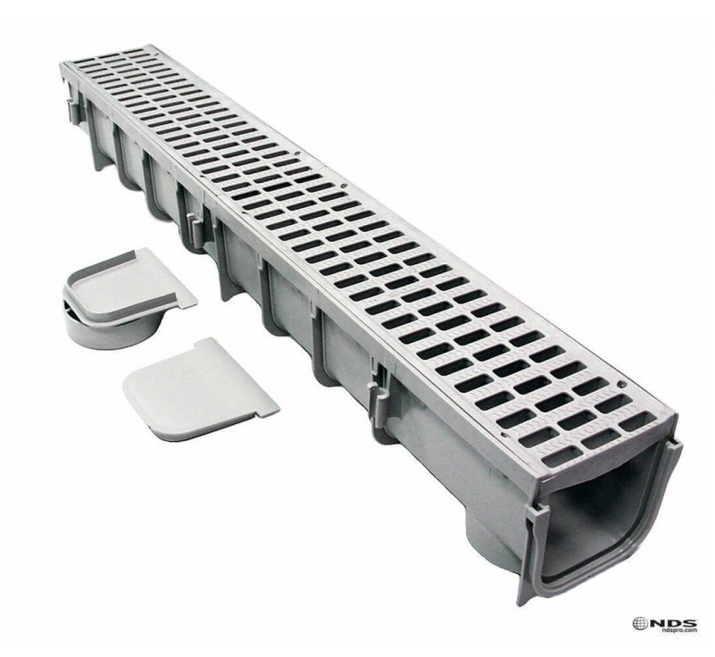 Nds 5 Pro Series Channel Drain Kit Cascade Concrete